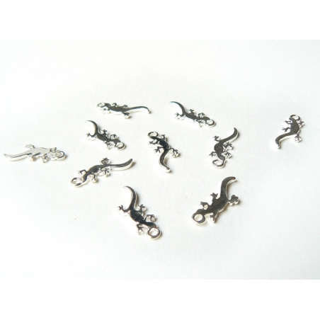 1 salamander charm - silver-coloured
