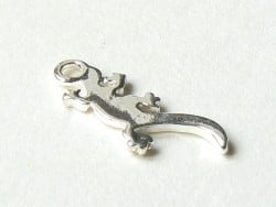 1 salamander charm - silver-coloured