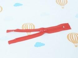 Dünner Reißverschluss (15 cm) - Rot