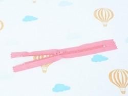 Fermeture éclair fine 15 cm - Rose bonbon