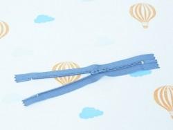 Fermeture éclair fine 15 cm - Bleu paon
