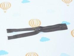 Dünner Reißverschluss (15 cm) - Dunkelbraun