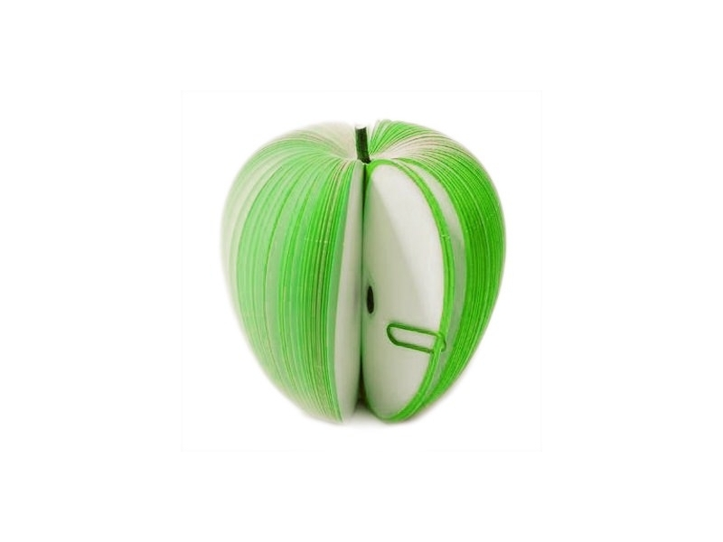 Bloc-notes en forme de fruit - POMME VERTE  - 1
