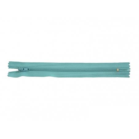 Fermeture éclair fine 18 cm - Bleu turquoise