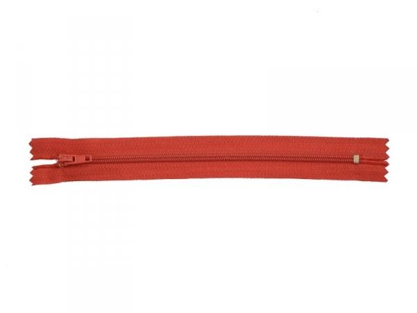 Fermeture éclair fine 18 cm - Rouge
