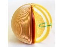 Bloc-notes en forme de fruit - ORANGE
