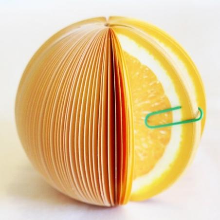 Fruit-shaped notepad - orange