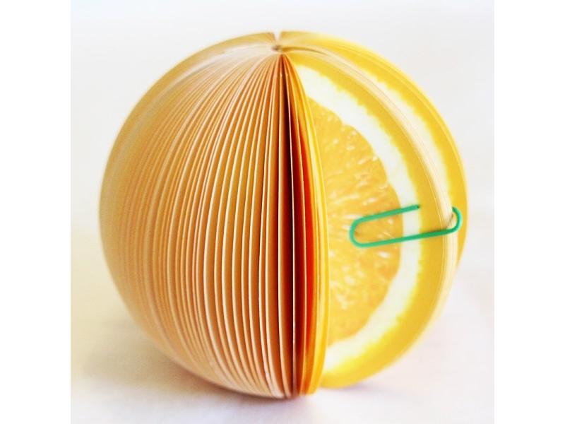 Bloc-notes en forme de fruit - ORANGE  - 1