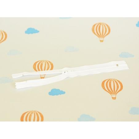 Fermeture éclair fine 18 cm - Blanc  Mediac - 3
