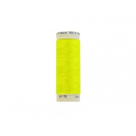 Bobine de fil jaune fluo