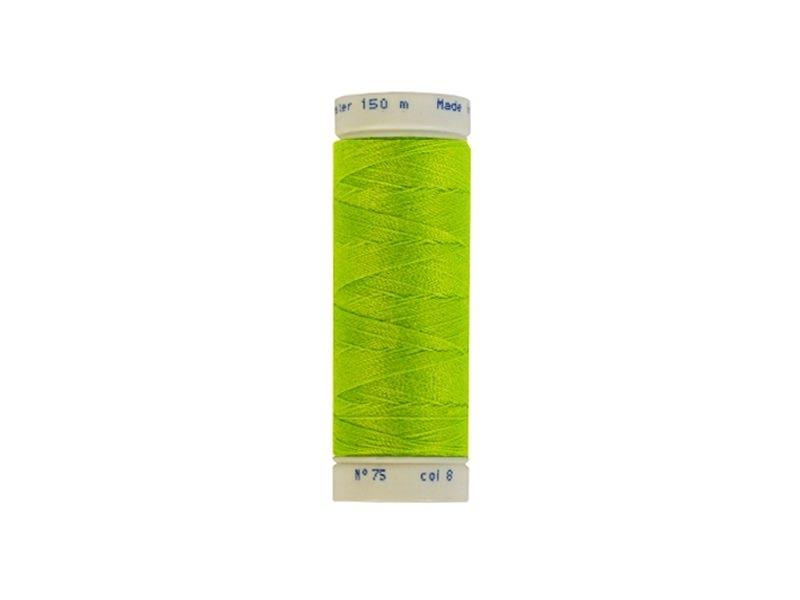 Neon green yarn