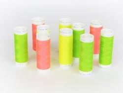 Bobine de fil vert fluo