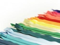 Thin zip (20 cm) - Fir green