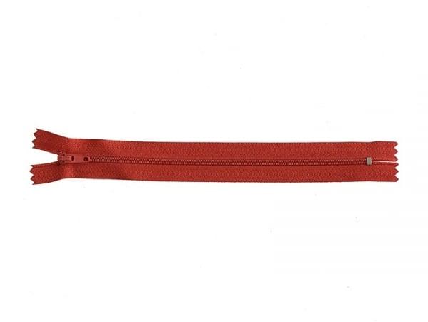 Fermeture éclair fine 20 cm - Rouge
