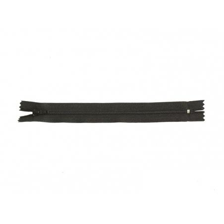 Thin zip (20 cm) - Black