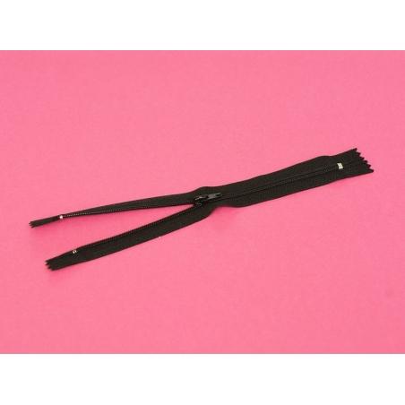 Fermeture éclair fine 20 cm - Noir Mediac - 3