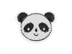 Iron-on patch - Panda head