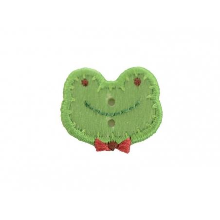 Ecusson thermocollant bouton Tête de grenouille