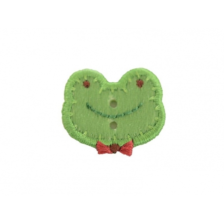 Iron-on patch/button - Frog head