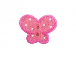 Ecusson thermocollant bouton Papillon