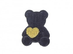 Acheter Ecusson thermocollant Ours avec coeur - Bleu marine - 1,39€ en ligne sur La Petite Epicerie - 100% Loisirs créatifs