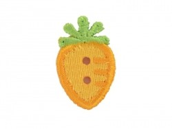 Iron-on patch/button - Carrot