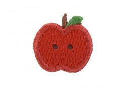 Iron-on patch/button - Apple