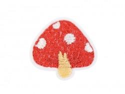Iron-on patch - Red mushroom