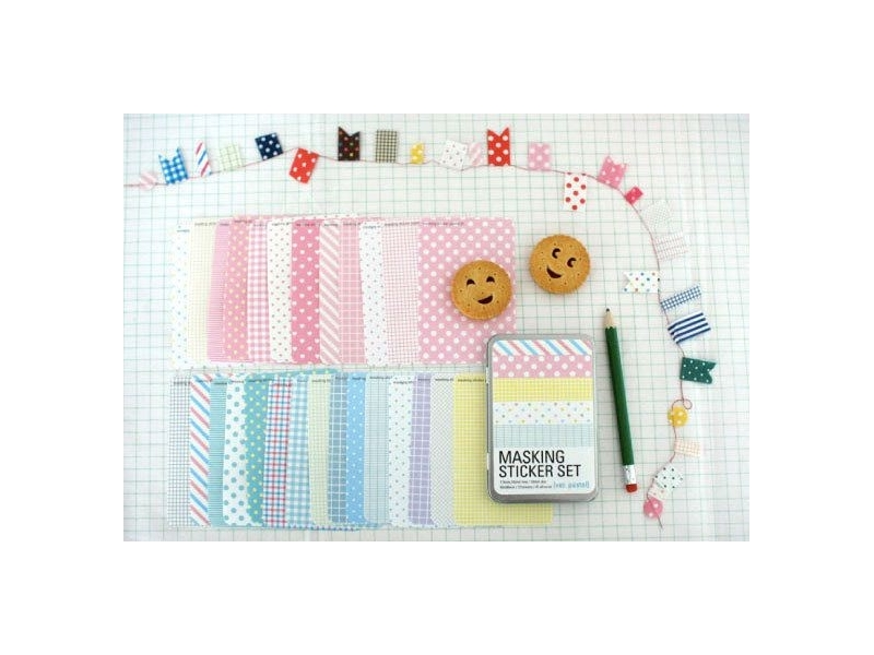 Masking sticker set - Pastel colours