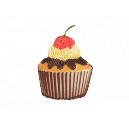 Ecusson thermocollant Grand cupcake cerise