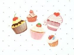 Ecusson thermocollant Petit cupcake fruits rouges