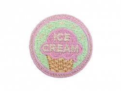 "Ecusson thermocollant badge ""Ice Cream"" Vert"