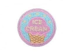 """Acheter Ecusson thermocollant badge """"Ice Cream"""" - Bleu - 1,99€ en ligne sur La Petite Epicerie - 100% Loisirs créatifs"""