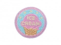"Iron-on patch/badge - ""Ice-cream"" - blue"