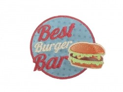 "Ecusson thermocollant badge ""Best Burger Bar"""