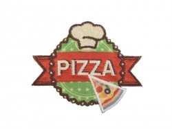 "Ecusson thermocollant badge ""Pizza"""