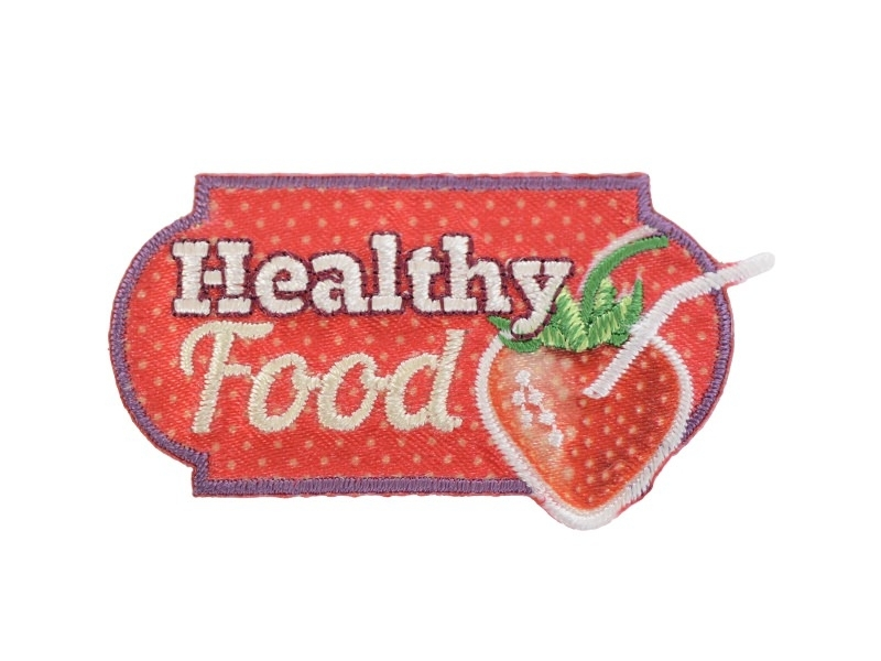 "Ecusson thermocollant badge ""Healthy food"""