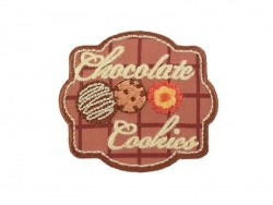 "Iron-on patch/badge - ""Chocolate cookies"""
