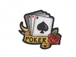"Iron-on patch - Tattoo design - ""Poker"""