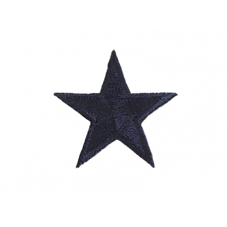 Iron-on patch - navy blue star