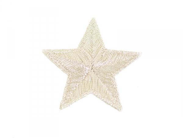 Ecusson thermocollant Grande étoile argentée
