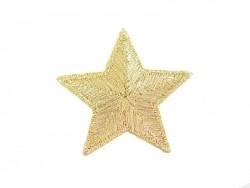 Ecusson thermocollant Grande étoile dorée