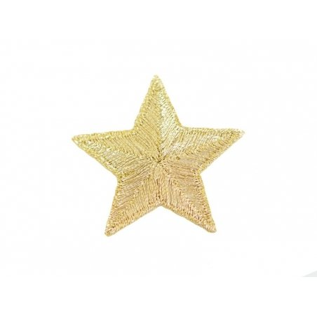 Iron-on patch - big golden star
