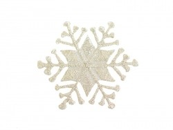 Iron-on patch - silver-coloured snowflake