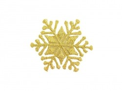 Iron-on patch - golden snowflake