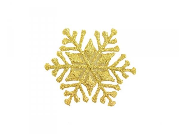 Ecusson thermocollant Flocon doré