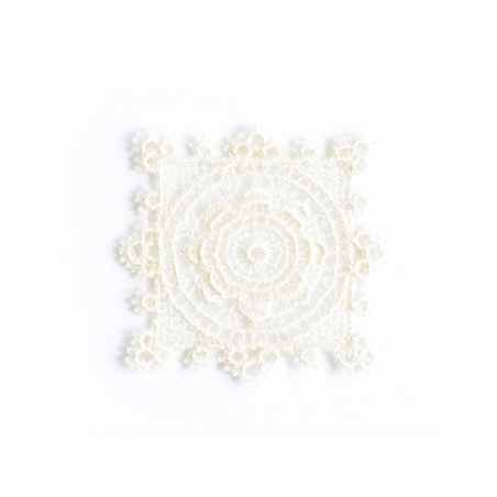 Iron-on patch - Lace square - Beige