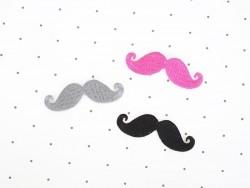 Ecusson thermocollant Moustache - Noir