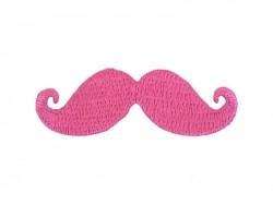 Ecusson thermocollant Moustache - Rose Mediac - 1