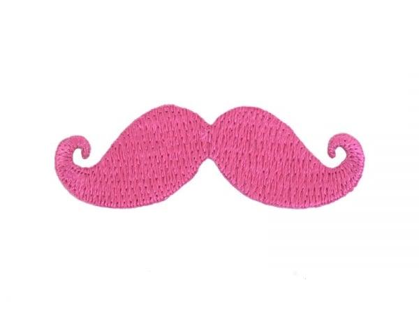 Ecusson thermocollant Moustache - Rose